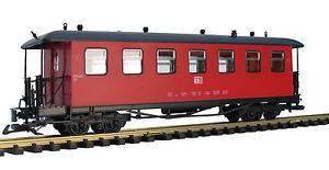 Train Personenwagen, rot, Spur G, für LGB