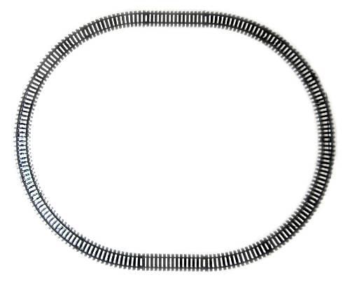 NewRay 14 Kunststoffgleise, Oval, schwarz, Spur G