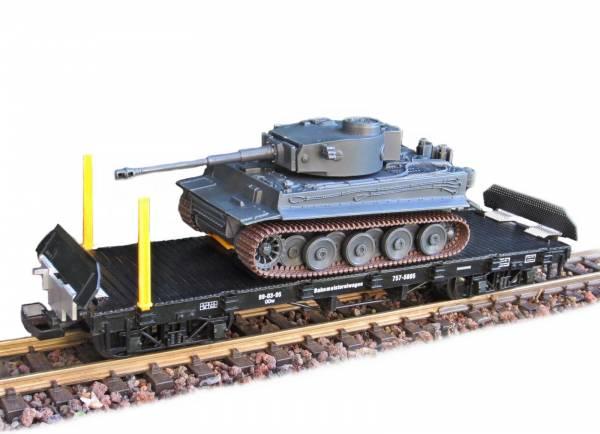 Zenner Flachwagen mit  Funk-Panzer Tiger I und Rampe, Spur G