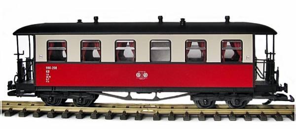 Zenner Molli Personenwagen 990-208 rot beige, 6 Fenster, Spur G, Edelstahlräder