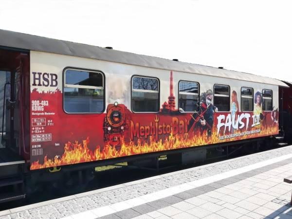 Train Line45 Personenwagen HSB 900-483 FAUST, MephistoBar, 6 Fenst. Spur G