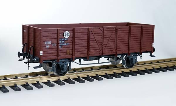 Zenner Hochbordwagen DR, braun, Spur II (64mm)