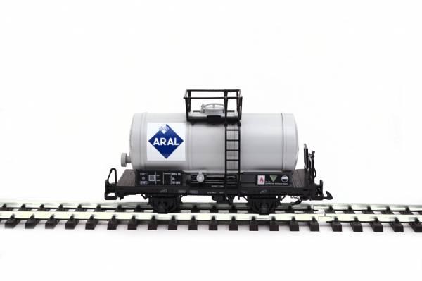 Zenner Kesselwagen, grau mit ARAL Logo, Spur G Gartenbahn, LGB Kessel