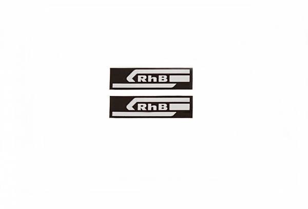 Zenner 2 Aufkleber RHB 29x7mm mit schwarzem Hintergrund Spur G
