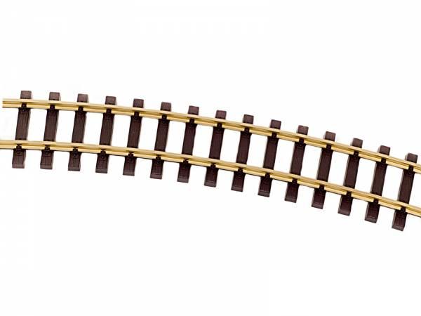 Thiel gebogene Gleise R1350mm Messing, 8 Stück (Kreis), Spur G