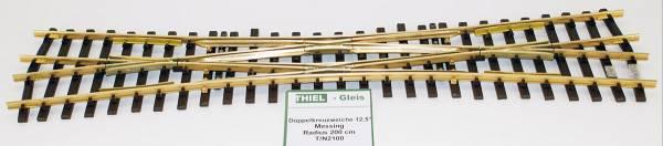 Thiel Doppelkreuzungsweiche 12,5° KL.R2000mm/L=760mm, Ms, Spur G