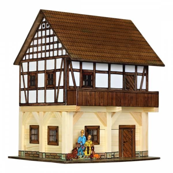 Walachia Fachwerk-Speicher Bausatz Nr. 37, Holzhaus für Spur 1/ Spur G, 1:32
