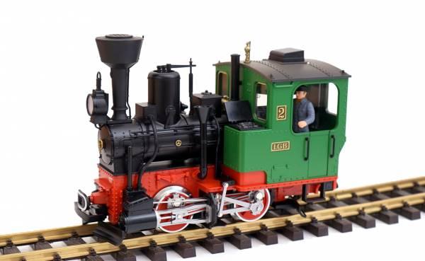 LGB Dampflok BR Stainz grün-schwarz, Soundmodul und Dampfgenerator, Spur G