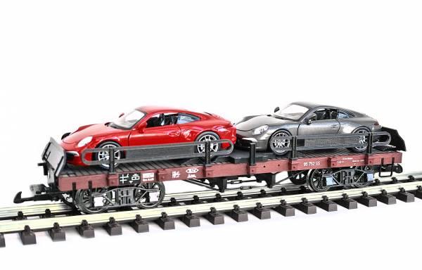 Zenner Autotransporter Porsche 911 Carrera, Spur G Kupplung, Edelstahlräder