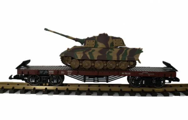 Zenner Flachwagen + Panzer King Tiger der deutschen Wehrmacht, Spur G