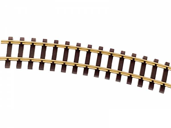 Thiel gebogene Gleises R1750mm Messing, 12 Stück (Kreis), Spur G