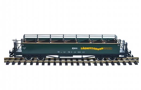 Train offener Personenwagen Sommerwagen, SDG Lößnitzgrund, Edelstahlräder, Spur G