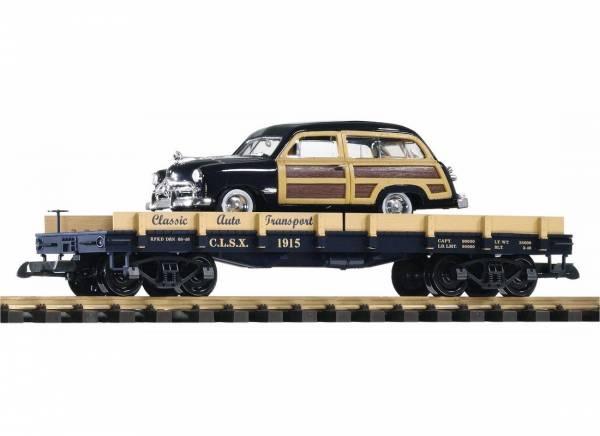 G-Autotransportwagen mit Oldtimer Auto
