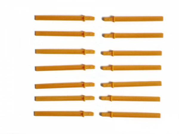 Zenner 14 Rungen orange-gelb, Spur G für LGB Flachwagen LüP 415mm
