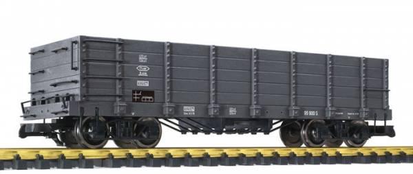 Liliput Hochbordwagen, grau, Kunststoffradsätze, Spur G Gartenbahn
