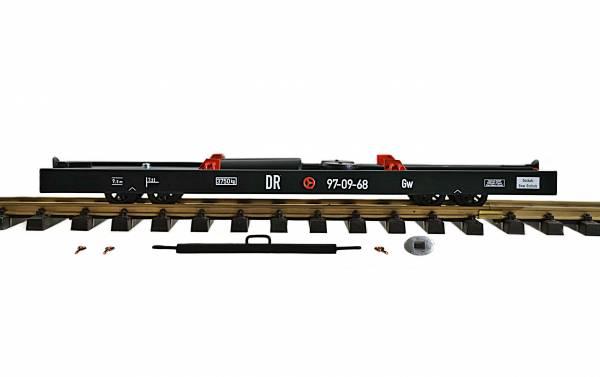 Zenner Rollwagen Spur G, für Spur II (64mm) Wagen, 350mm einfaches Modell, schwarz
