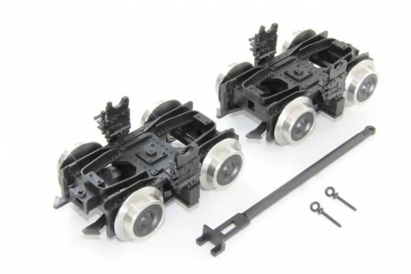 Boerman Rollbockset HSB, Spur G, für Spur II (64mm)-Wagen auf Schmalsspur IIm (45mm)