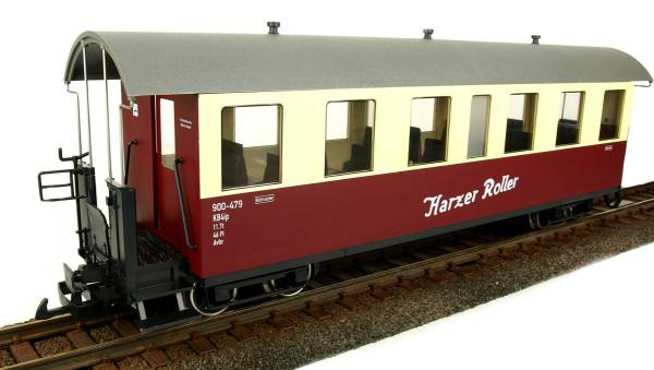 Train Line45 cars HSB Harzer Roller, 7 windows 900-479, G scale, for LGB  coupling