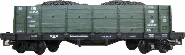 Zenner Hochbordwagen grün mit Kohle