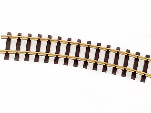 Thiel gebogene Gleise R765mm Messing, 8 Stück (Kreis), Spur G