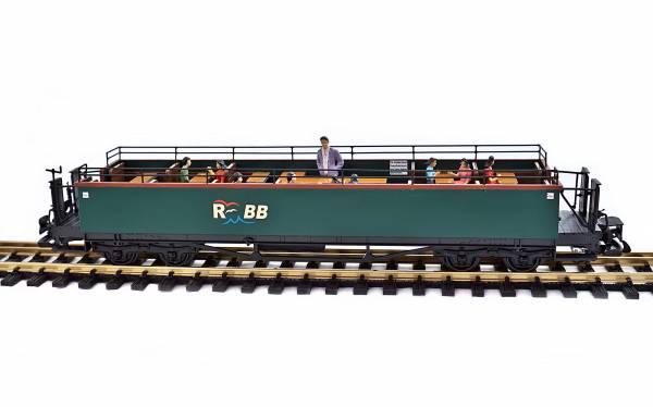 Train Personenwagen Sommerwagen, Rügensche Bäderbahn RüBB,Spur G