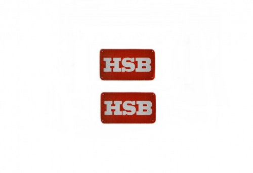 Details About 2 Hsb Sticker With Background Red 24x14mm Track G Show Original Title
