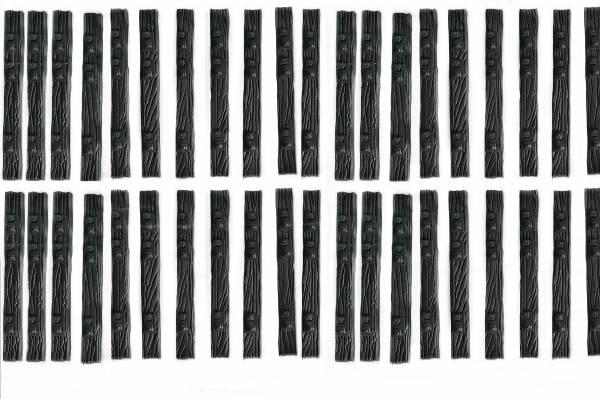 40 Schwellen Holz-Immitation Dreischienengleis Spur II (64mm), Spur 2