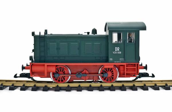 Piko Diesellok V20, grün, umgebaut auf Spur II (64mm) DR, Spur 2