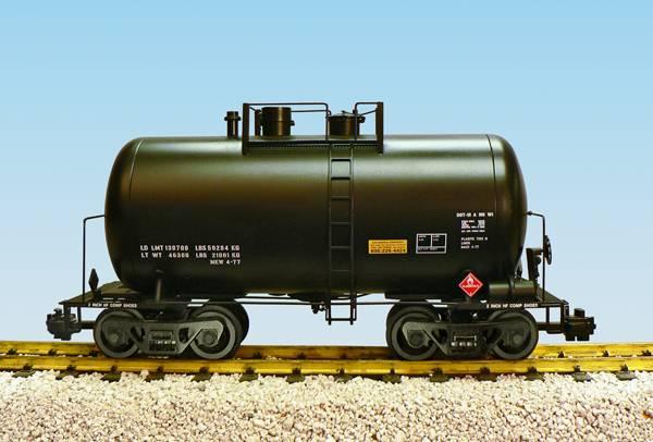 USA-TRAINS schwerer Kesselwagen in schwarz, aus Metall Spur G für LGB