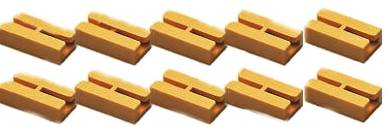Zenner 10 Gleis Isolierverbinder, gelb, für Spur G Gleisprofil