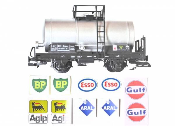 Zenner Kesselwagen, silber, verschiedene Aufkleber wählbar, Spur G Gartenbahn