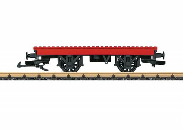 LGB Bausteinwagen, rot, Spur G mit Lego Steinen