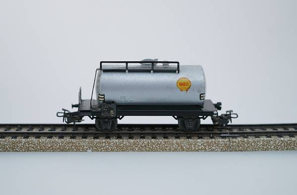 Märklin Güterwagen Kesselwagen SHELL, silber, Spur H0, gebraucht