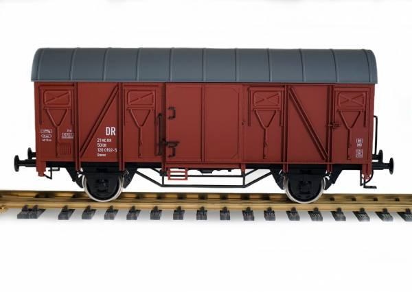 Boerman gedeckter Güterwagen (DR groß), braun, Spur II (64mm, 1:22,5)