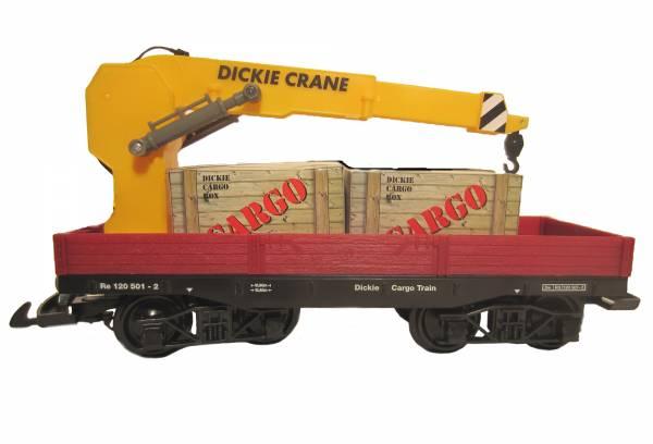 Zenner Kranwagen mit LGB kompatiblen Drehgestellen, Güterwagen der Spur G