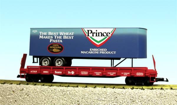 USA-Trains Prince Pasta - Blue w/Red Flatcar ,Spur G