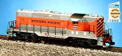 USA-Trains Western Pacific - Silver/Orange,Spur G