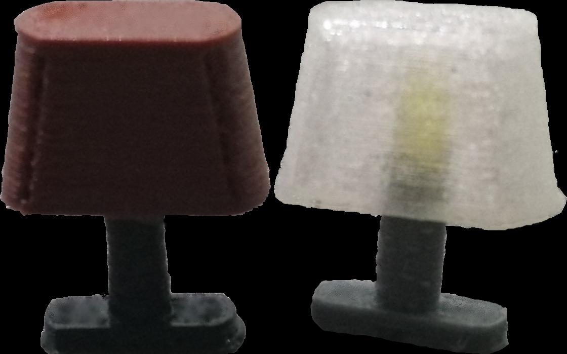 2 LED Lampen für Personenwagen Spur G Birnen