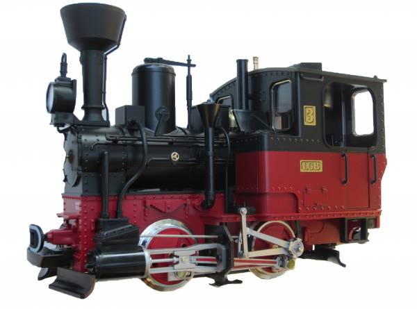 Dampflok Stainz schwarz-rot, Soundmodul, Dampfgenerator, Spur G Gartenbahn IIm