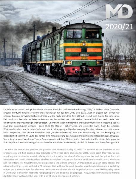 MD-Electronics Katalog, 2020/2021, Spur 0, Spur 1, Spur G, Spur 2