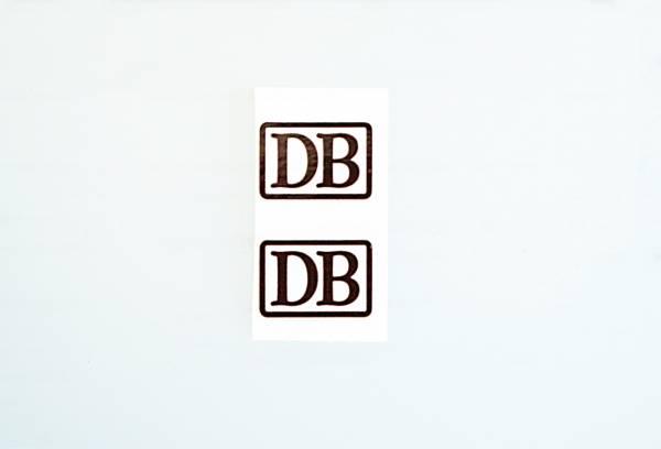 2 DB Aufkleber für Personenwagen 19x14mm Spur G