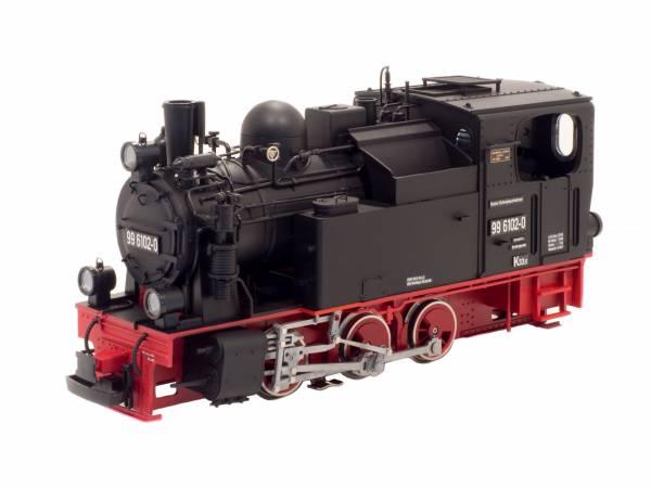 Train Line45 Dampflok HSB Pfiffi BR 99 6102, analog, gepulster Verdampfer, Spur G
