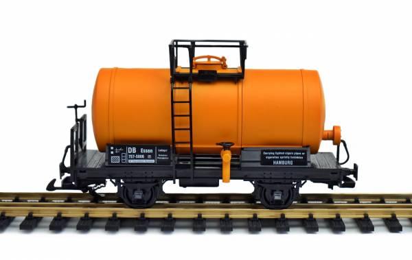 Zenner Kesselwagen umgebaut von Spur G auf Spur 2 (64mm), orange, Spur II