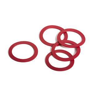 5 Massoth Haftreifen für Rad 37,5, rot, 32x25mm, Spur G für LGB Loks