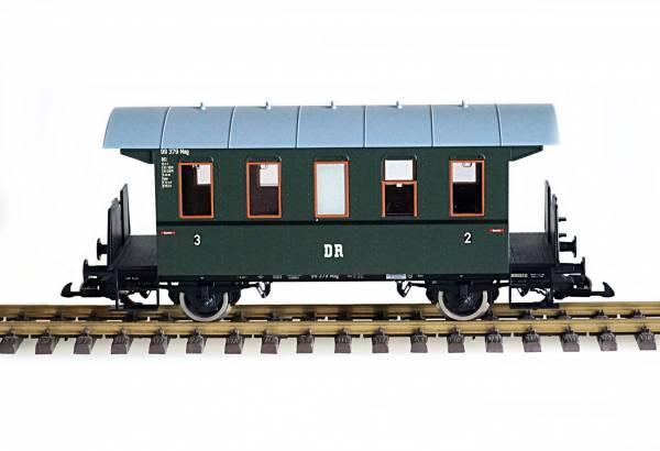 Piko Personenwagen DR, grün, Spur G mit Edelstahlrädern