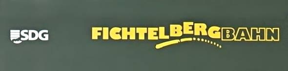 Aufkleber Fichtelbergbahn für Personenwagen Spur G