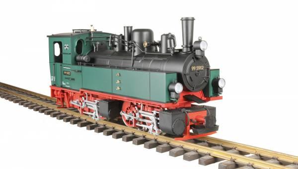 Train Line45 Dampflok Mallet grün-schwarz, Dampf, analog, Spur G, für LGB