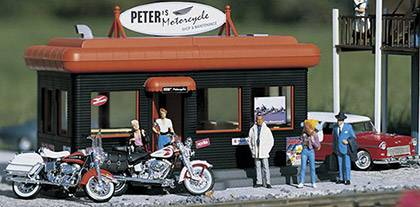 PIKO 62259 Peter's Motoradladen für die Spur G Gartenbahn