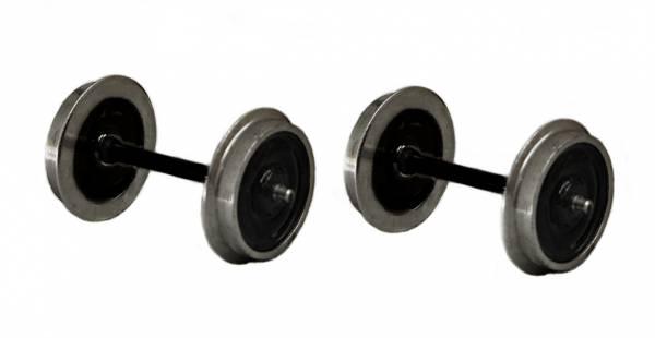 Zenner Spur 1, zwei Radsätze mit Edelstahlradkranz, 30mm