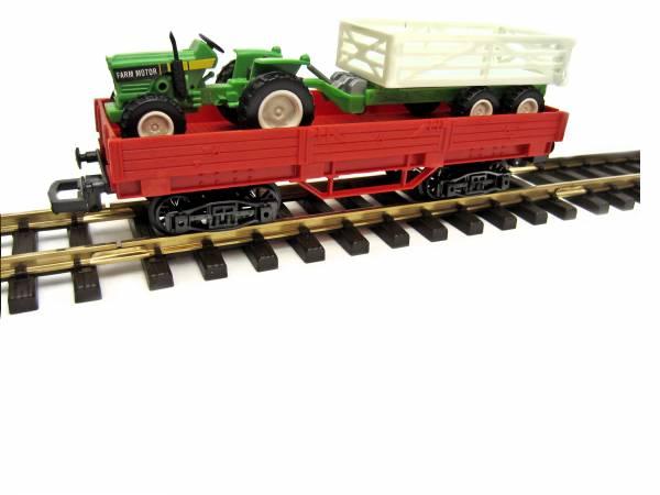 NewRay Niederbordwagen mit Traktor, Spur G / Spur 1